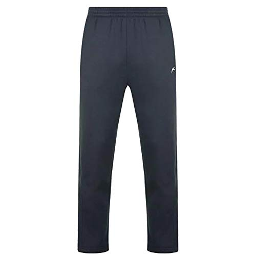 Slazenger Heren Casual Joggingbroek Open Hem Fleece Broek (XX-Large, Navy)