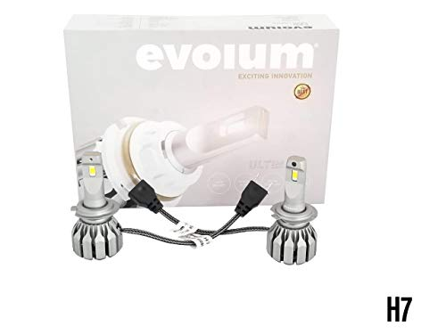 Evolum Kit de Focos LED H4 9007 H3 H11 Ultimate 40w para Faros Principales con Alta, Bajas y Biled(Altas…