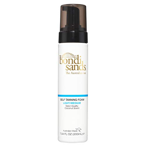 Bondi Sands Self Tanner Foam- Self Tanner Mousse for Quick Sunless Tanning - Use For A Natural Looking Australian Golden Tan (7.04 FL OZ) (Light/Medium)