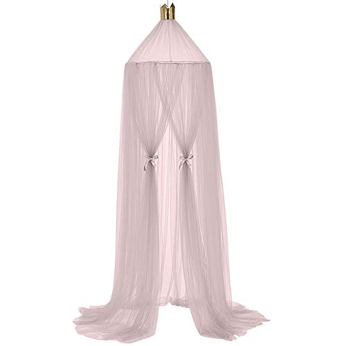 LPxdywlk 240cm Nordic Kid Baby Bed Tent,Upper Crown Round Dome Hanging Net Canopy Room Decor Light Purple