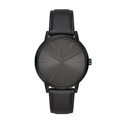 Armani Exchange Herren Analog Quarz Uhr mit Leder Armband AX2705 zum Sonderpreis.