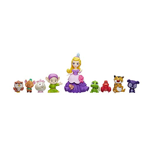 Little Kingdom Disney Princess Royal Friends Collection - 9-Piece set includes Aurora, Pascal, Dopey, Gus, Rajah and more