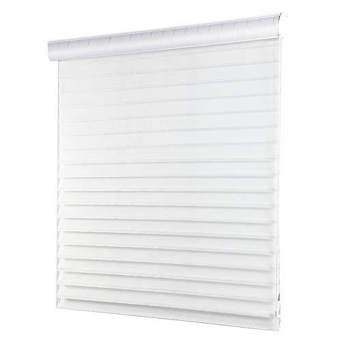 DS- Vorhänge Zebra Rollo Doppel Schatten Jalousie Startseite Horizontal Wohnzimmer Blackout Curtain (weiß, Größe kann angepasst Werden) && (Size : 80x200cm)