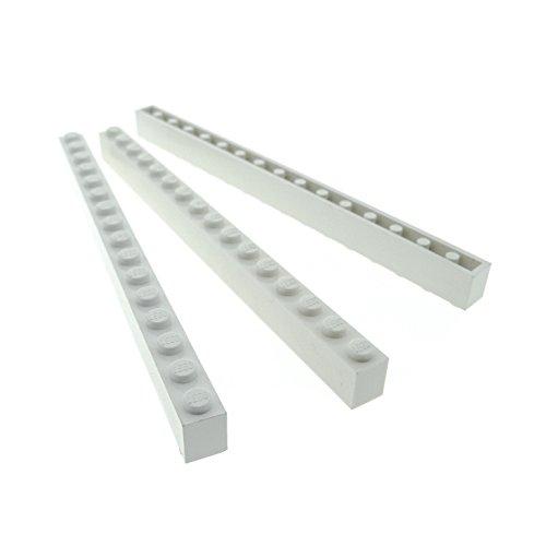 3 x Lego System Basic Bau Stein weiss 1 x 16 für Set Star Wars City 6285 10040 7264 7166 7690 3315 7498 4560 8681 4999 2465