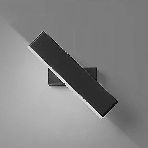 Goeco Moderna Lampada da Parete a LED 8W, Luce da Parete Camera da Letto Comodino Angolo Regolabile ,per Camera da Letto Comodino Sfondo Muro corridoio (Luce Bianca Calda)