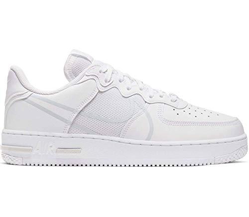 Nike AIR Force 1 React White/Pure Platinum Sneaker (42)