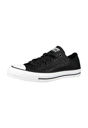 Converse Converse All Star Ox Damen Sneaker Metallisch, Black White, 36.5