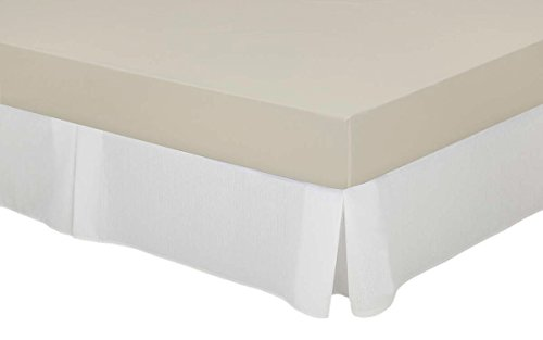 Cassa Luyton Cubre canapé loneta de Fuelles, Algodón-Poliéster, Blanco, 160 x 200 cm