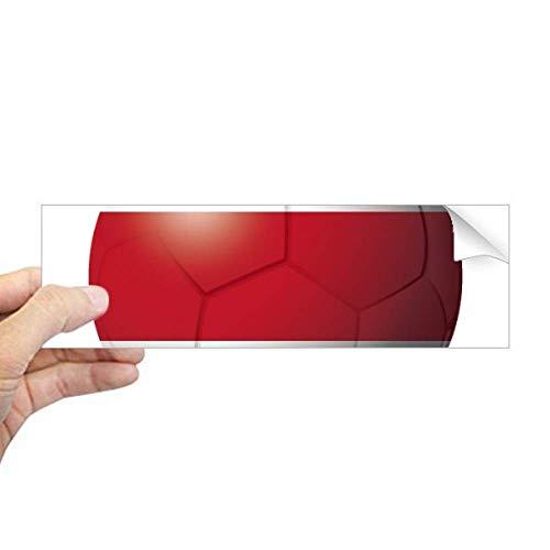 DIYthinker Costa Rica Nationale Vlag Voetbal Rechthoek Bumper Sticker Notebook Window Decal