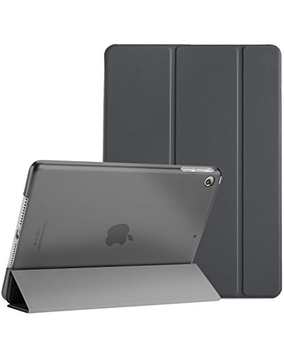"ProCase Funda iPad Mini 1/2/3 (Modelos Viejos), Carcasa Folio Ligera Delgada con Smart Cover Reverso Translúcido para 7,9"" Apple iPad Mini 1 Mini 2 Mini 3 –Plomo"
