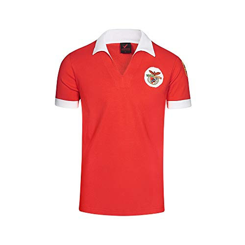 Benfica Retro Polo European Champion, Hombre, Red/White, XXL