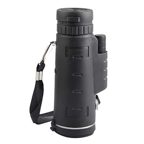 LIOOBO 40X60 HD Monocular Teleskop Hochleistungsfernrohr Nachtsicht Vogelbeobachtung Jagd Camping Reisen Wandern (Schwarz)