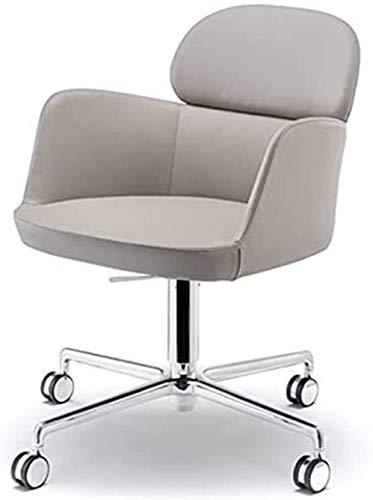 JIADUOBAO Silla de oficina giratoria ejecutiva, simple y moderna, sillas de ordenador, sillas giratorias para recepción y negociación, sillas de sofá de ocio individuales (color: albaricoque)