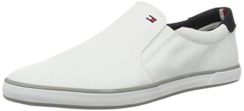 Tommy Hilfiger Herren Iconic Slip ON Sneaker, Off White (Bianco), 48 EU