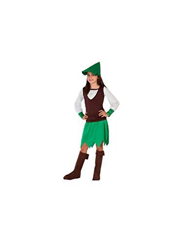 DISBACANAL Disfraz Robin Hood para niña - -, 5-6 años