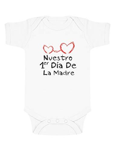 Body de Manga Corta para bebé mamá en Día de la Madre 3-6 Mes Blanco