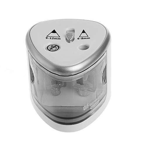 Ashley GAO Sacapuntas de lápiz eléctrico de doble agujero automático cepilladora batería...