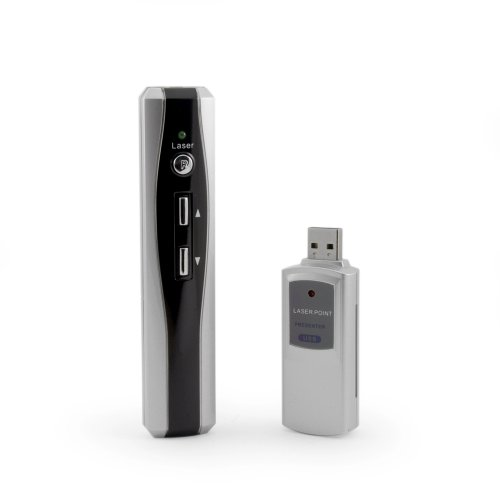 Incutex RF – OHNE Zielen! schnurloser Presenter mit Laserpointer, wireless Laser Pointer Remoter, PowerPoint Fernbedienung