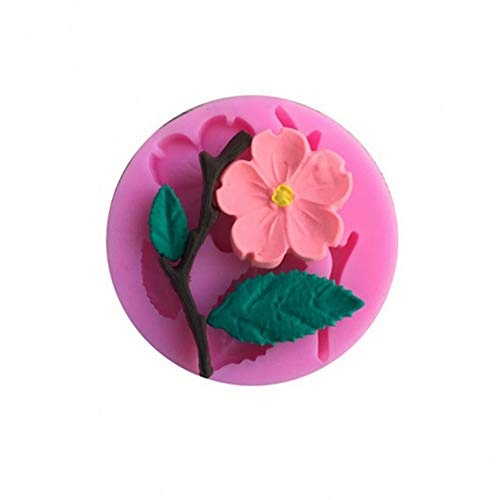 SHEANAON 3D Silicone Mold 1Pc Peach Blossom Shapes Cake Chocolate Candy Jello Silicone Decorating Tools