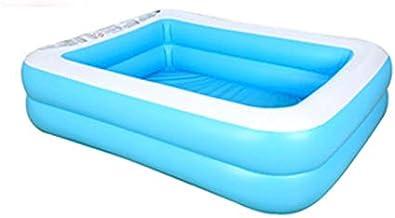 Piscina Inflable, PVC Inflable Piscina Niños Adultos Agua Diversión Pequeña Piscina para Jardines Patio Baldo al Aire Libre (155x108x46cm)
