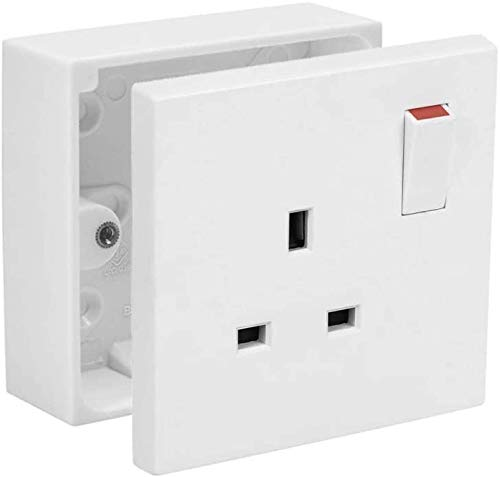 50 x 25mm Deep Single 1 Gang Surface Mount Pattress Back Box Wall Socket Switch