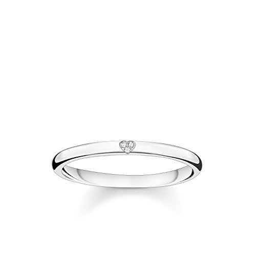 Thomas Sabo Damen-Ring Glam & Soul 925 Sterling Silber Diamant Pavè weiß Gr. 52 (16.6) D_TR0016-725-14-52