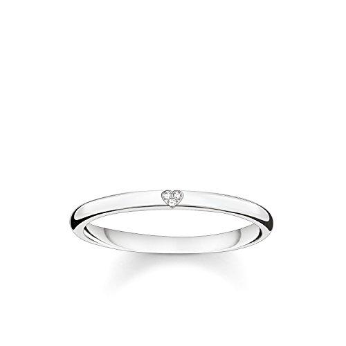 THOMAS SABO Damen-Ring Herz 925 Sterling Silber Diamant D_TR0016-725-14-54