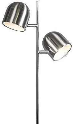 Trio Leuchten 472490207 Lampe sur Pied, 4.5 W, Nickel Mat
