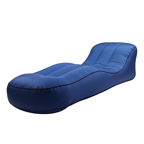 ARIESDY Aufblasbare Liege Sofa Outdoor Tragbare Einzel Aufblasbare Bett Feuchtigkeit Bodenmatte Aufblasbare Air Sofa Liege Stuhl Couch Wasser Aufblasbare Faule Schlafsofa F¨¹r Camping Swimming