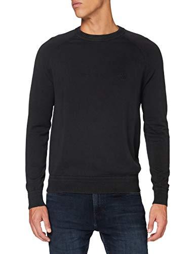 Calvin Klein Gmd Essential Crew Neck Sweater Suéter, Black, XL para Hombre