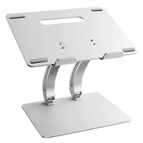 WYJW Soporte para computadora portátil, Elevador de Monitor ergonómico Plegable Ajustable de múltiples ángulos Soporte para computadora portátil de refrigeración de Aluminio Adecuado pa
