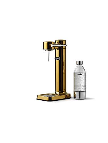 Aarke Carbonator 3 Wassersprudler mit Edelstahlgehäuse und premium PET-Flasche Gold