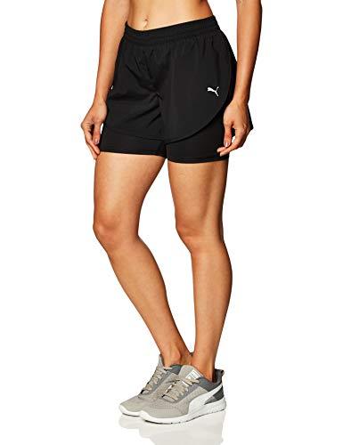 Shorts Puma 2 in 1 Run Short W, Mujer, Black-Black, M