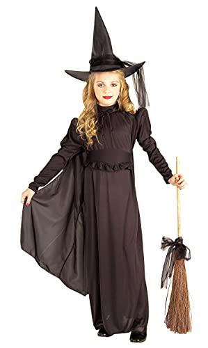 Forum Novelties Girl's Classic Witch Costume, Large Black