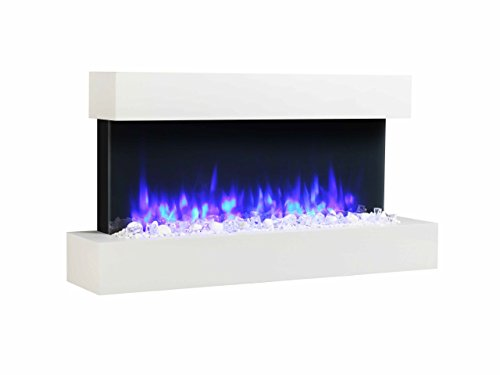 Endeavour Fires Runswick Wall Mounted Electric Fire, 220/240Vac, 50 Hz, 1&2kW, 7 day Programmable...