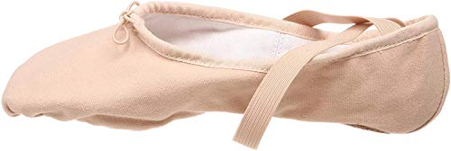 Bloch Women's Pump Split Sole Canvas Ballet Shoe/Slipper, Pink, 5.5 B US