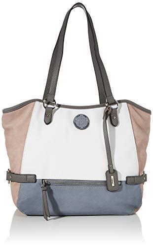 Rieker Damen Handtasche H1066, Mehrfarbig (Bianco/Rose/Sky/grau), 280x130x400 cm
