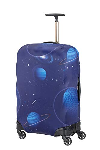 Samsonite Global Travel Accessories - Coperture in Lycra per Valigia, M, Blu (Spaceman)