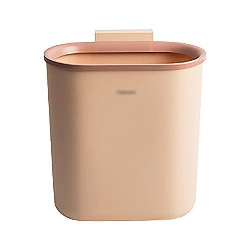 MARMODAY Papelera de cocina para encimera o debajo del fregadero, tamaño pequeño, 7,5 l, color rosa