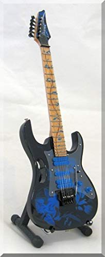 STEVE VAI Guitarra miniatura Ibanez blue Floral