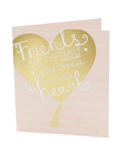 Friend Birthday Card - Birthday Card for Her - Pretty Gold Heart Design