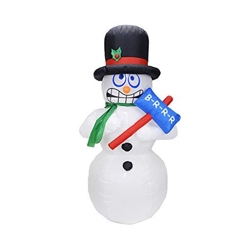 1.8Meters / 6 Feet Riesiger Aufblasbarer Schneemann Mit Einem Hammer, Glühend Weihnachtsaußendekoration Mit LED-Licht, Weihnachten Inflatables Spielzeug in Yard Garten