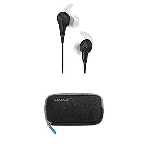 Bose QuietComfort 20 Acoustic Noise Cancelling Kopfhörerfür Apple Gerät schwarz + QuietComfort 20 Tragetasche schwarz