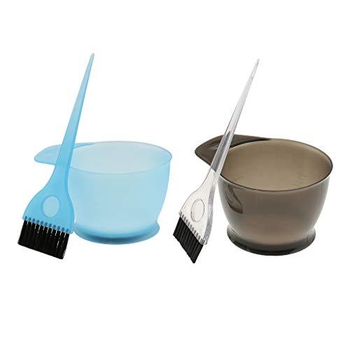 perfeclan 2pcs/Kit de Teinture Coloration Bol Brosse de Haute Qualité pour Cheveux Coiffure Salon - Durable