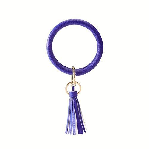 HBWHY Llavero con pulsera, elegante llavero para llaves de coche, llaves de puerta, para mujeres, hombres, color azul