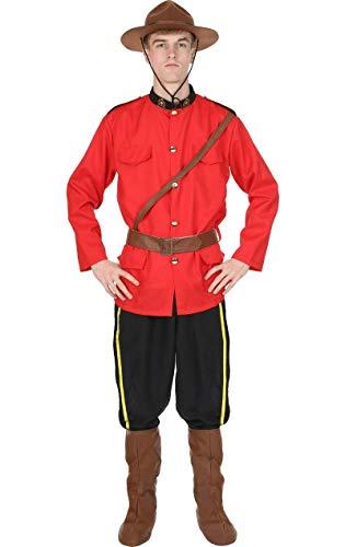 ORION COSTUMES Herren Rote Uniform Kanadischer Mountie Maskenkostüm