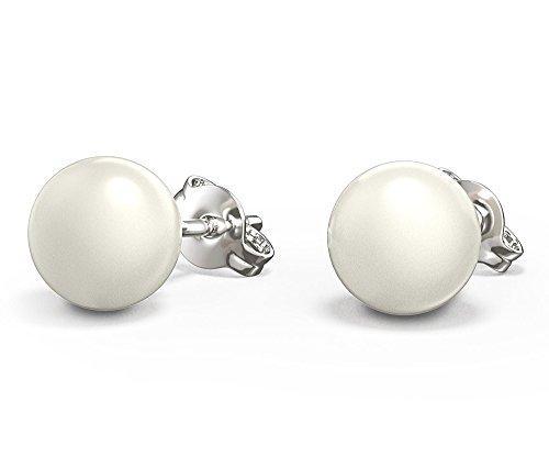 Crystals & Stones Fashmond Perlen Ohrringe 925 Silber Swarovski Elements - für Damen Geschenk - Ohrringe mit Geschenkox