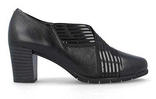 Pitillos - Zapato Abotinado Elástico Cruzado - Negro, 41