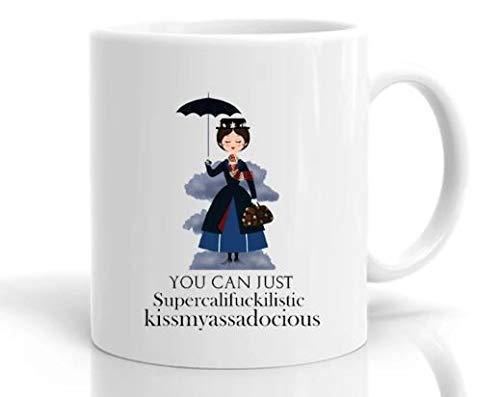 N\A Taza de Mary Poppins, Regalo para Amigos, Regalo de Broma, Novedad Divertida, Impresionante Taza, Divertida Taza de café