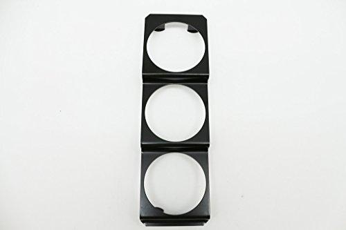 Triple panneau pod universel en métal pour jauge de 52 mm, compteur, autoradio DIN - Noir - Type A
